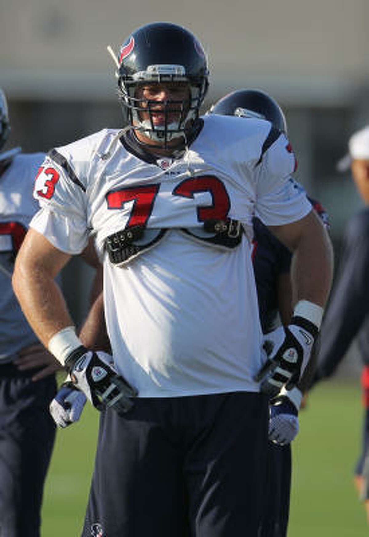 Texans tackle Eric Winston says he won't start a fight, but he won't back down if something involving his teammates is started.