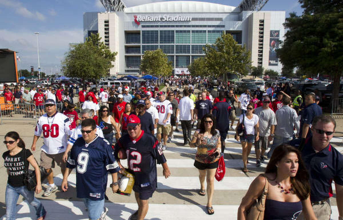 Texans fans who visit Reliant Stadium are subject to the team's fan conduct policy.