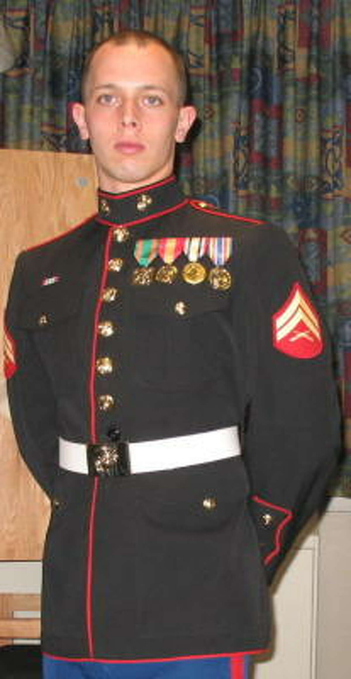 PRIDE OF HIS DAD'S LIFE: David Stidman survived two deployments to Iraq and one to Afghanistan, but died in an Aug. 2 traffic accident near Rosenberg.