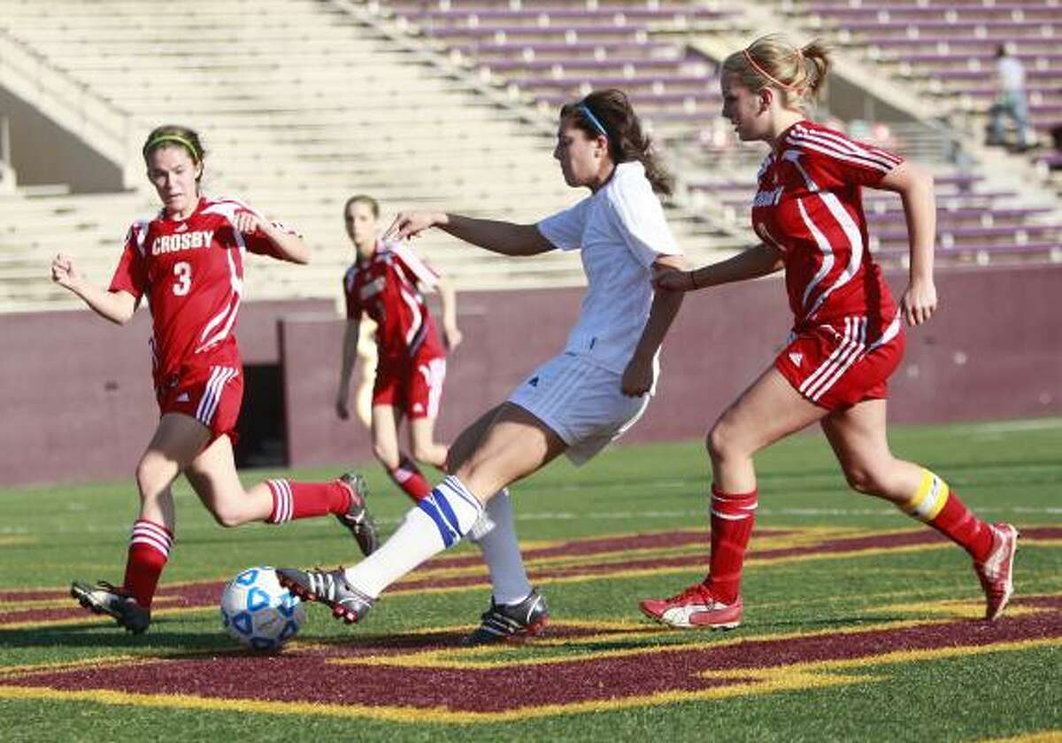 Friendswood forward Annalisa Hall scored four goals and had an assist in the win over Crosby.