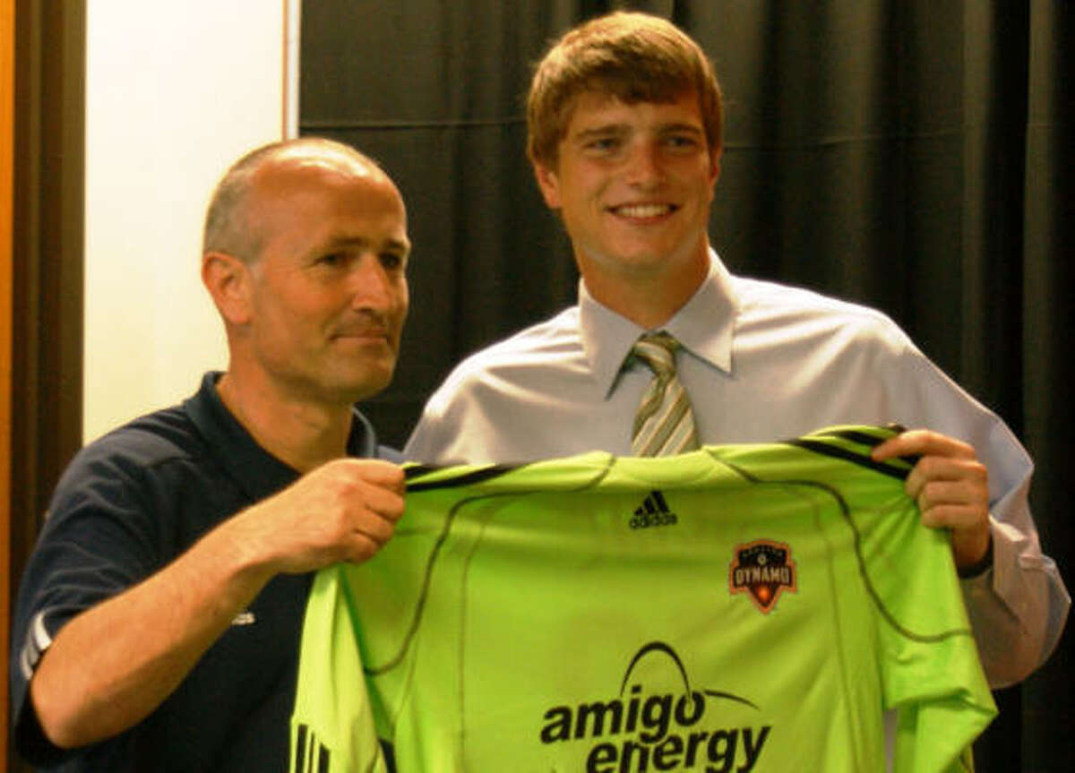 Tyler Deric, right, could make his first start for Dominic Kinnear as the Dynamo's other goalkeepers are ailing.