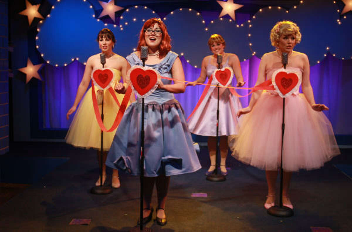Rachel Logue, from left, Chelsea McCurdy, Christina Stroup and Holland Vavra Peters play the titular roles in The Marvelous Wonderettes, a jukebox musical built around