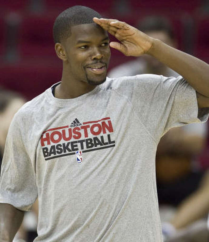 Rockets guard Aaron Brooks says the focus on defense has raised the intensity at practice. Photo: James Nielsen, Chronicle