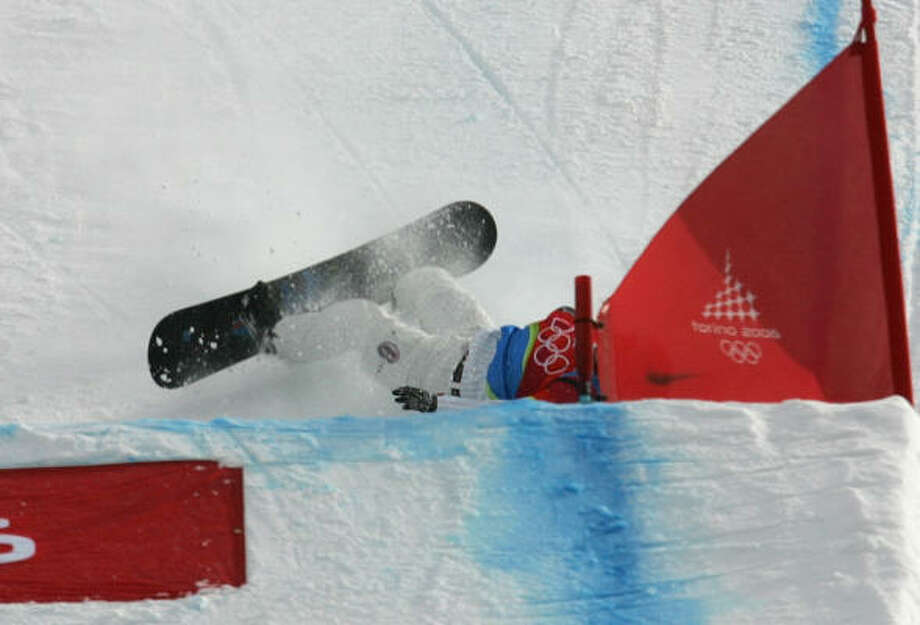 A fall in the final stretch cost Lindsey Jacobellis gold in the snowboardcross in Turin in 2006. Photo: LIONEL CIRONNEAU, AP