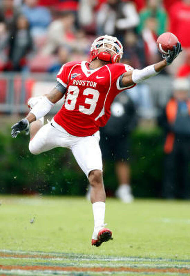 Patrick Edwards turned heads in the  2009 season and caught 85 passes for 1,021 yards to make the All-C-USA second team. Photo: Nick De La Torre, Houston Chronicle