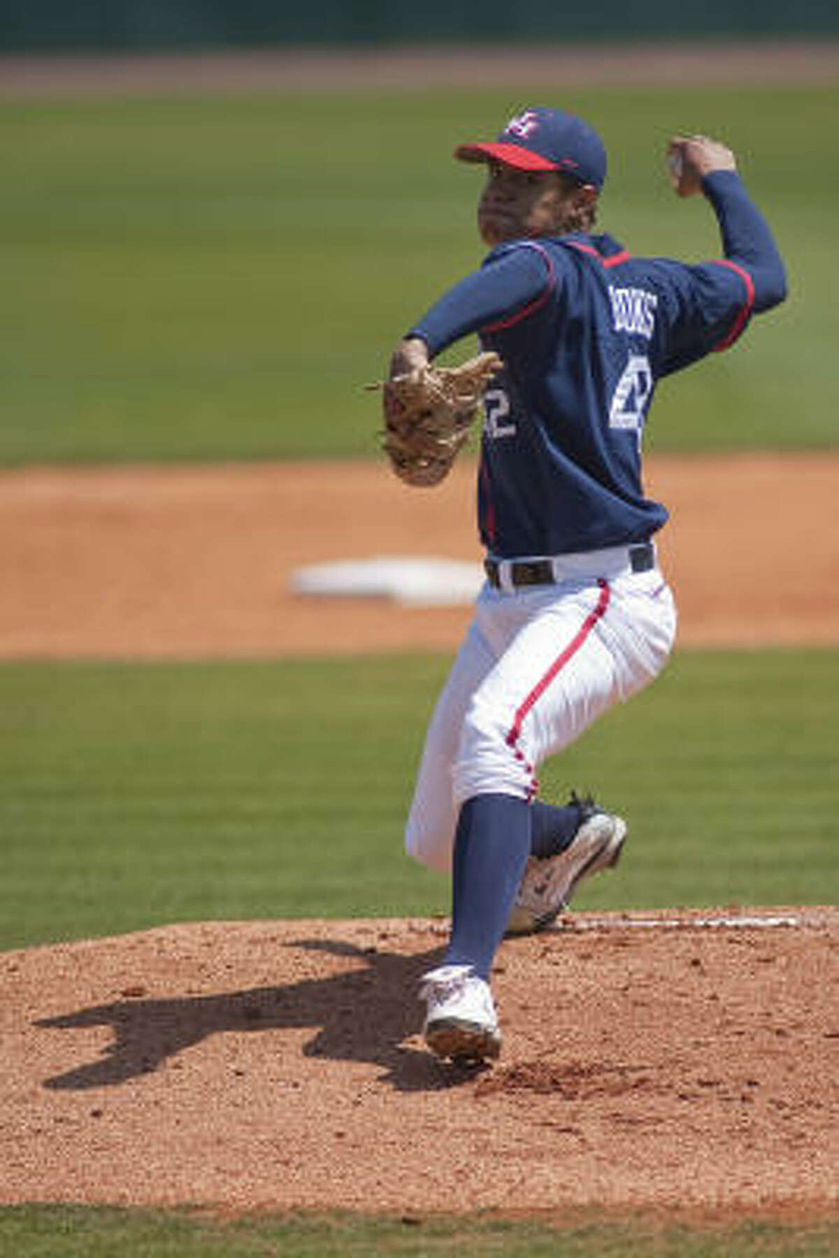 University of Houston pitcher Eric Brooks earned the win over the University of Central Florida, allowing three earned runs on seven hits in five innings.