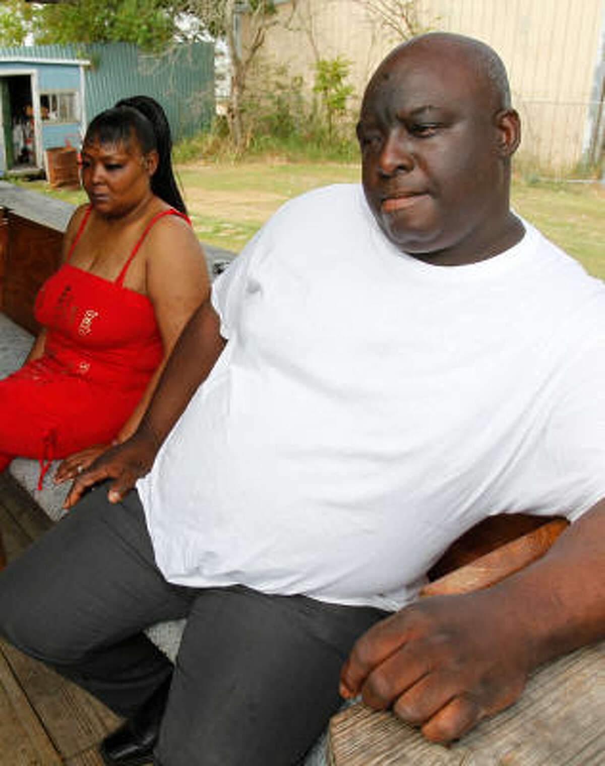 Sid Johnson is embarrassed about not being able to provide properly for his family. His wife, Judy, left, has been diagnosed with an autoimmune disorder and requires a caretaker.