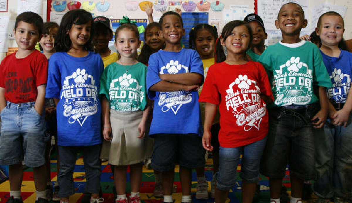 Kindergartners at Klenk Elementary in Klein represent a range of nationalities.