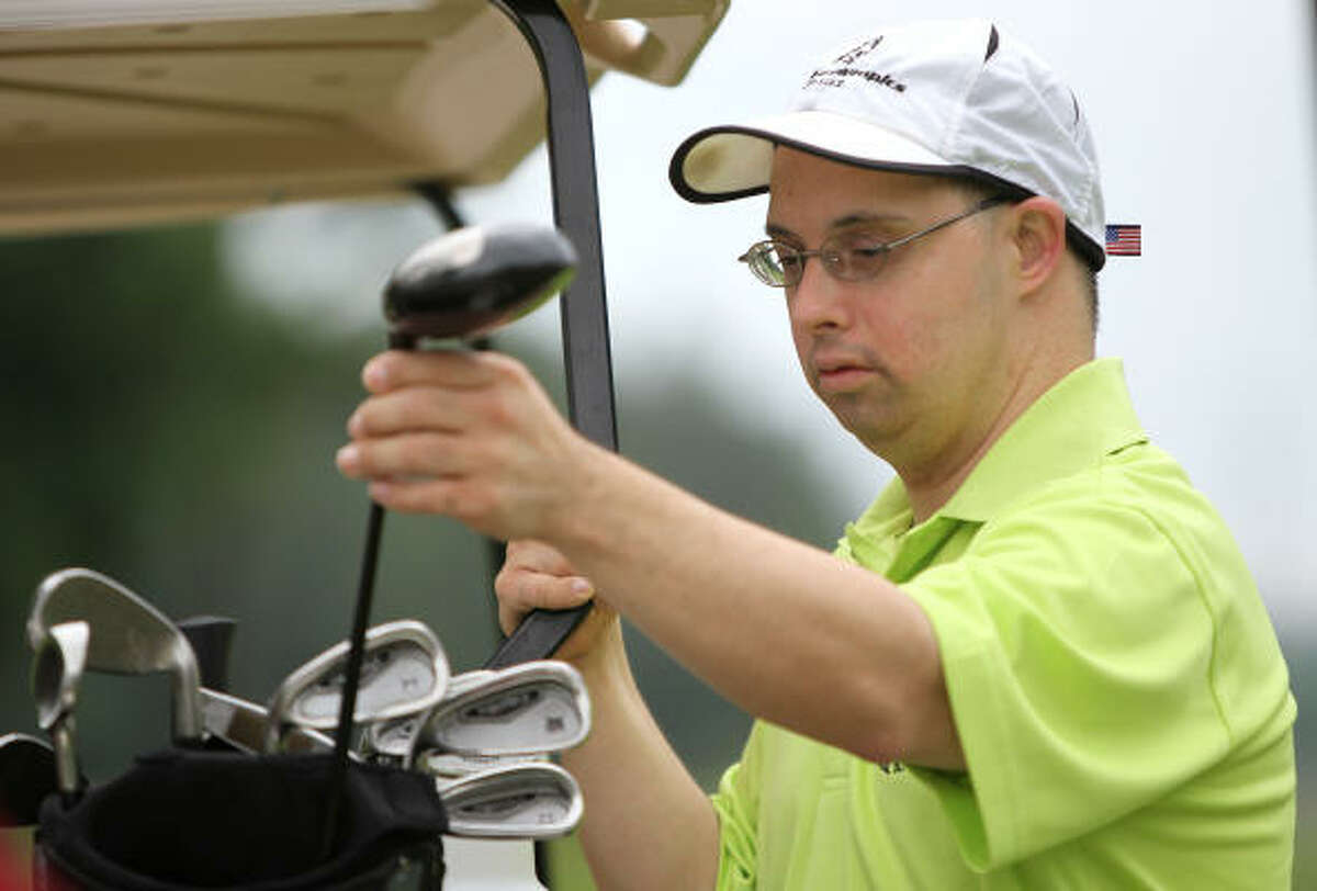 Lee Bell of the Spring Panthers Special Olympics golf team,has been playing golf for eight years and is also an avid bowler.