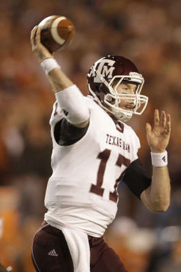 Ryan Tannehill and the red-hot Aggies face perennial SEC power LSU in the Cotton Bowl. Photo: Karen Warren, Chronicle