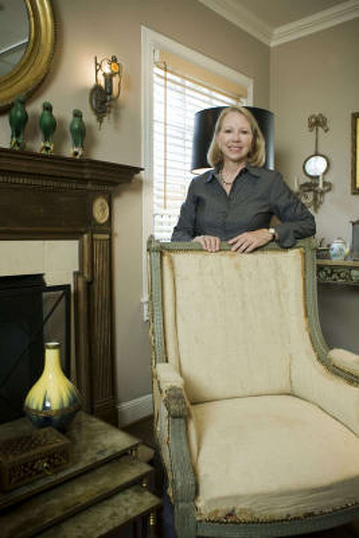 """""""There is a fine line between accents and clutter,"""" says Objects owner Sharon Perry Wise."""