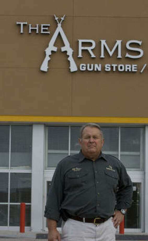 Bill James' Arms Room is an unusual occupant for a shopping center. Among the League City center's tenants are a SuperTarget, a Home Depot and a PetSmart. Photo: Billy Smith II :, Chronicle