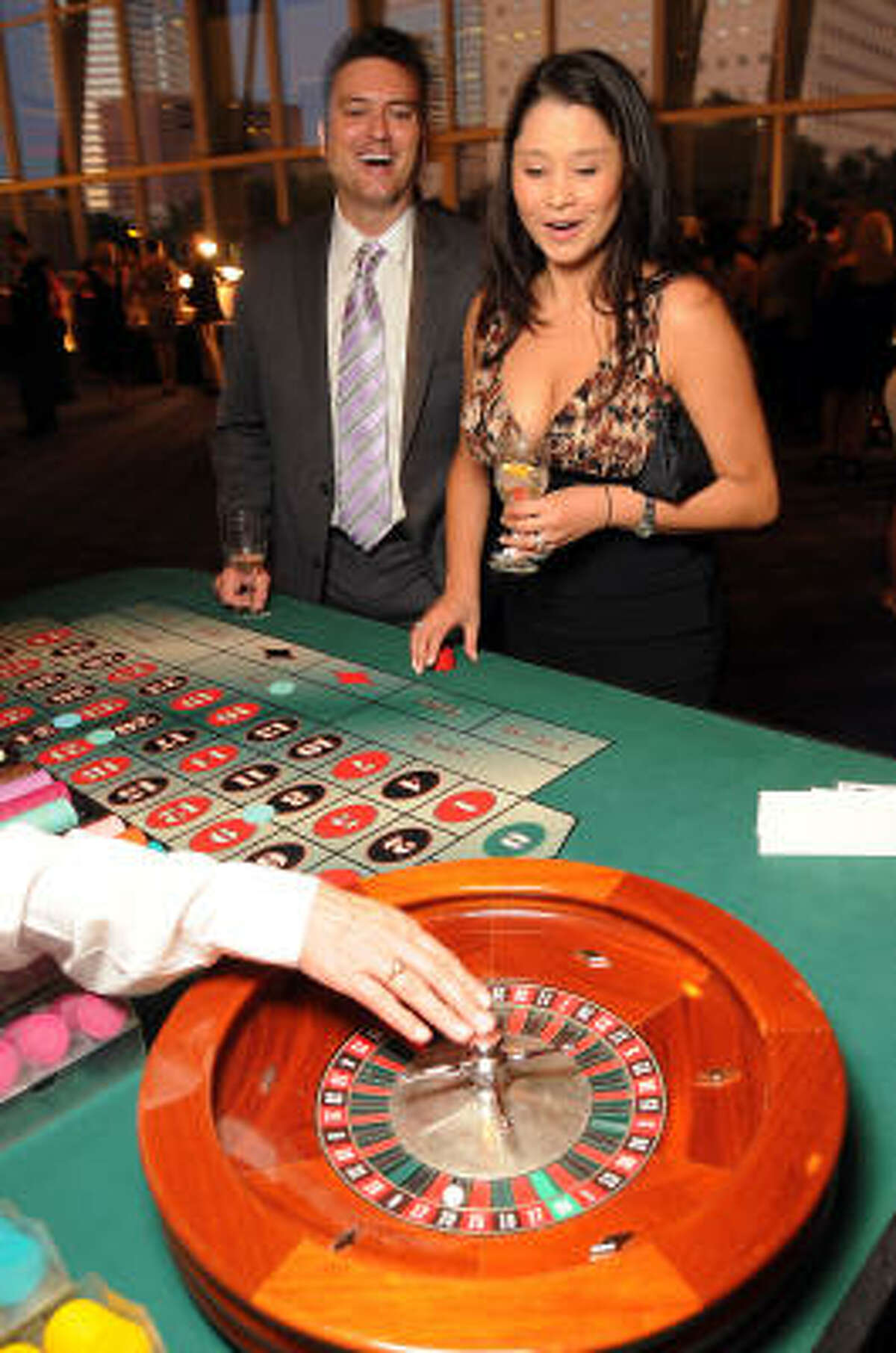 Shawn and Cece Broussard at the Health Museum's Casino Night