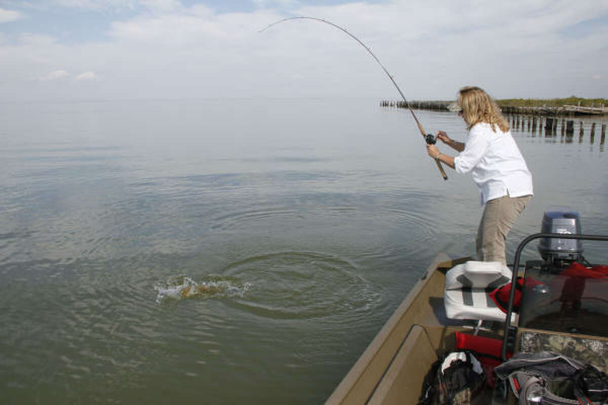 Calm, cool days behind early-autumn fronts can produce glassy conditions on Texas bays, giving anglers an advantage when looking for skimping shrimp, scattering menhaden or other signs of feeding fish.