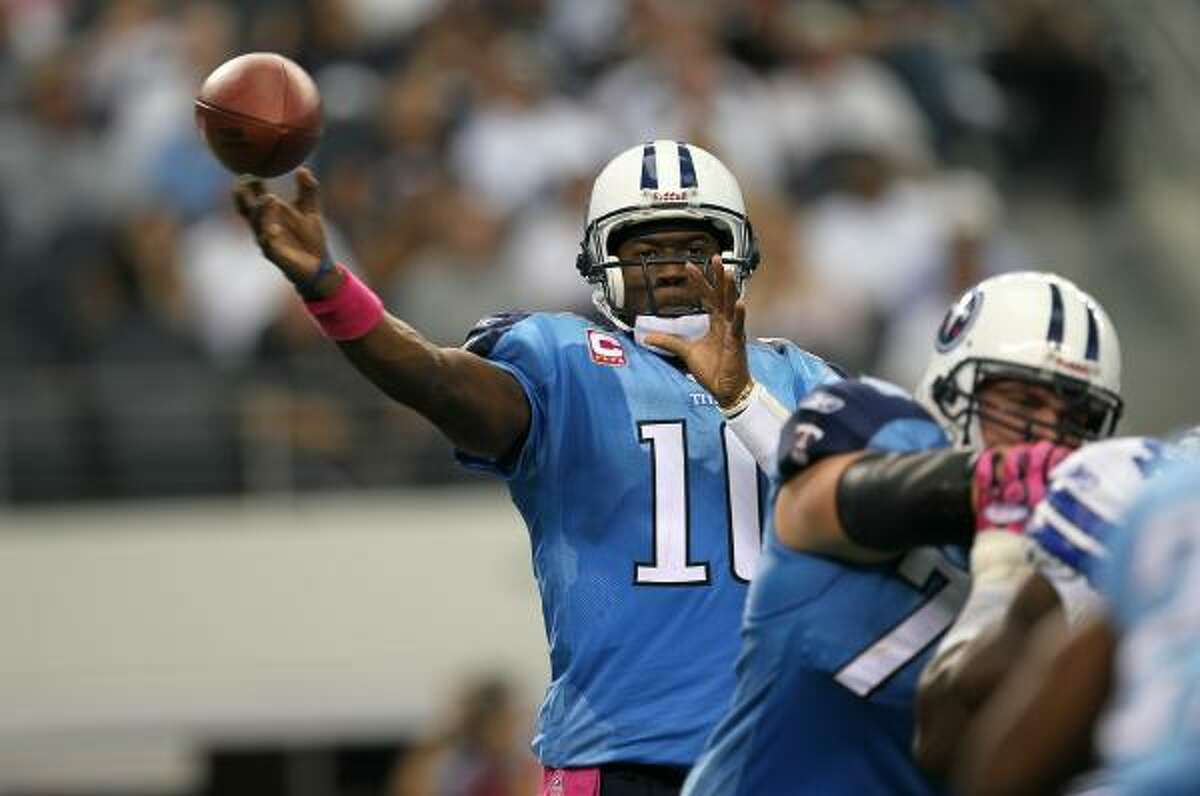Titans quarterback Vince Young had two touchdown passes in Sunday's win over the Cowboys.