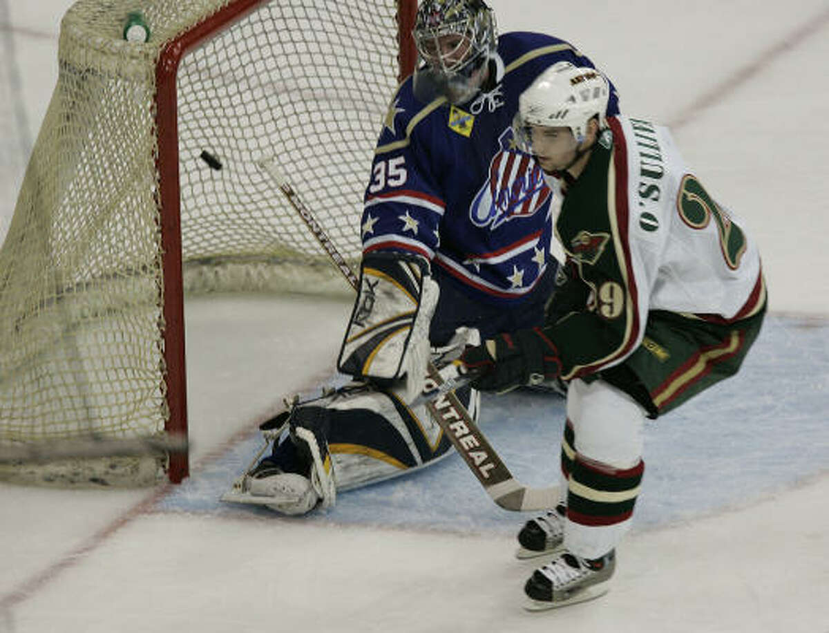 Patrick O'Sullivan scored 46 goals in his first season with the Aeros.
