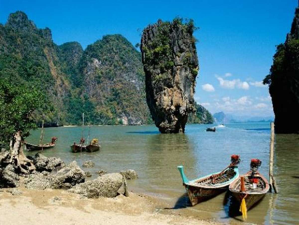 Phang Nga Bay is renowned for its unusual rock formations.