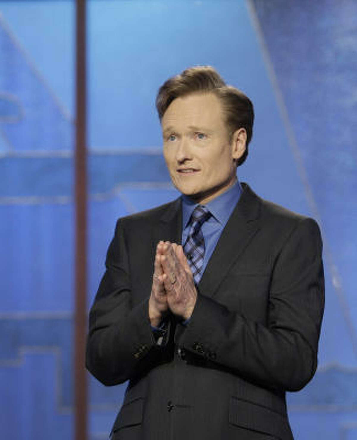 Conan O'Brien appears on his final Tonight Show episode on Friday.