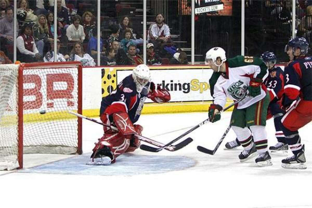 J.M. Daoust scored 55 seconds into overtime to send the Aeros to a 1-0 win over Grand Rapids on Saturday.