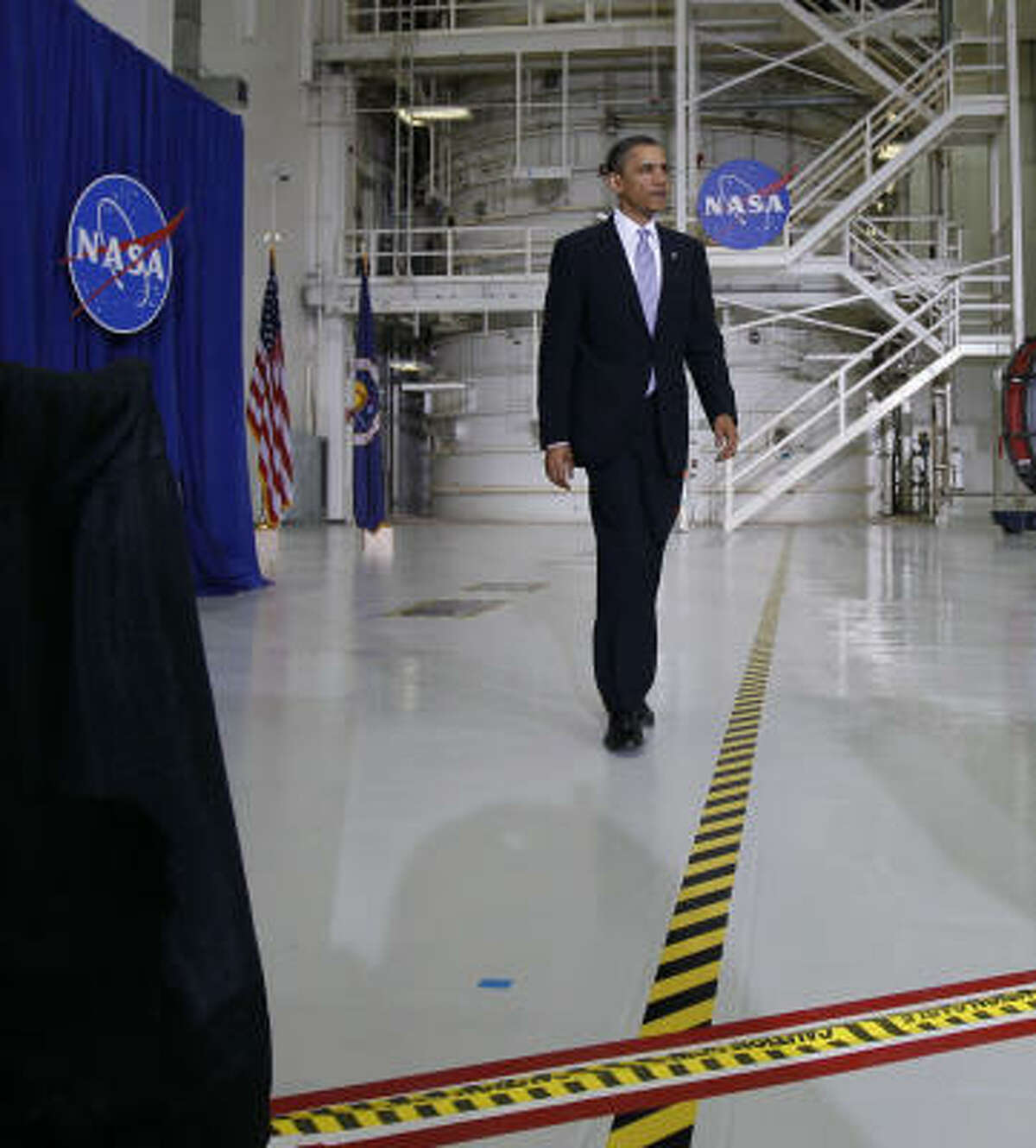 President Obama acknowledged criticism, even from some prominent astronauts, for his drastic changes to the space program's direction.