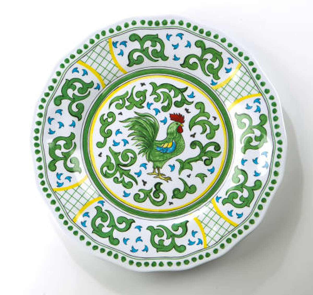 Rooster dinner plate, $9.95, Sur La Table.