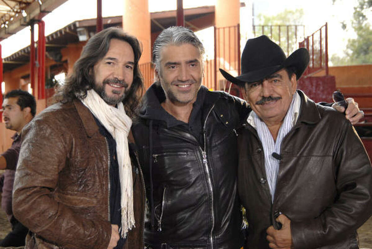 Marco Antonio Solis, from left, Alejandro Fernandez and Joan Sebastian join forces for Los Tres Tour, which unites three of the most recognizable voices in Latin music. They have all collaborated on recordings with each other as well.