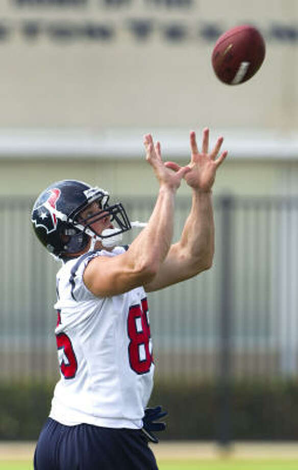 Tight end Joel Dreessen has a 'perfectionist attitude' for the Texans. Photo: Brett Coomer, Chronicle