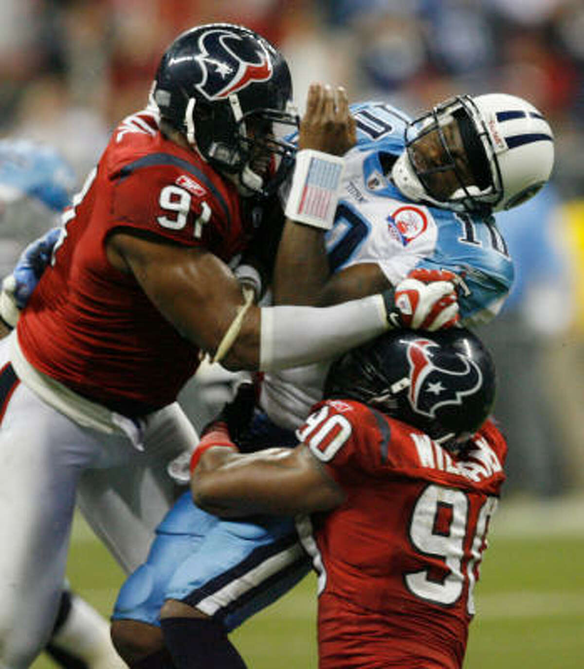 22-year-old Amobi Okoye believes the potential the Texans first saw in him will be realized this season.