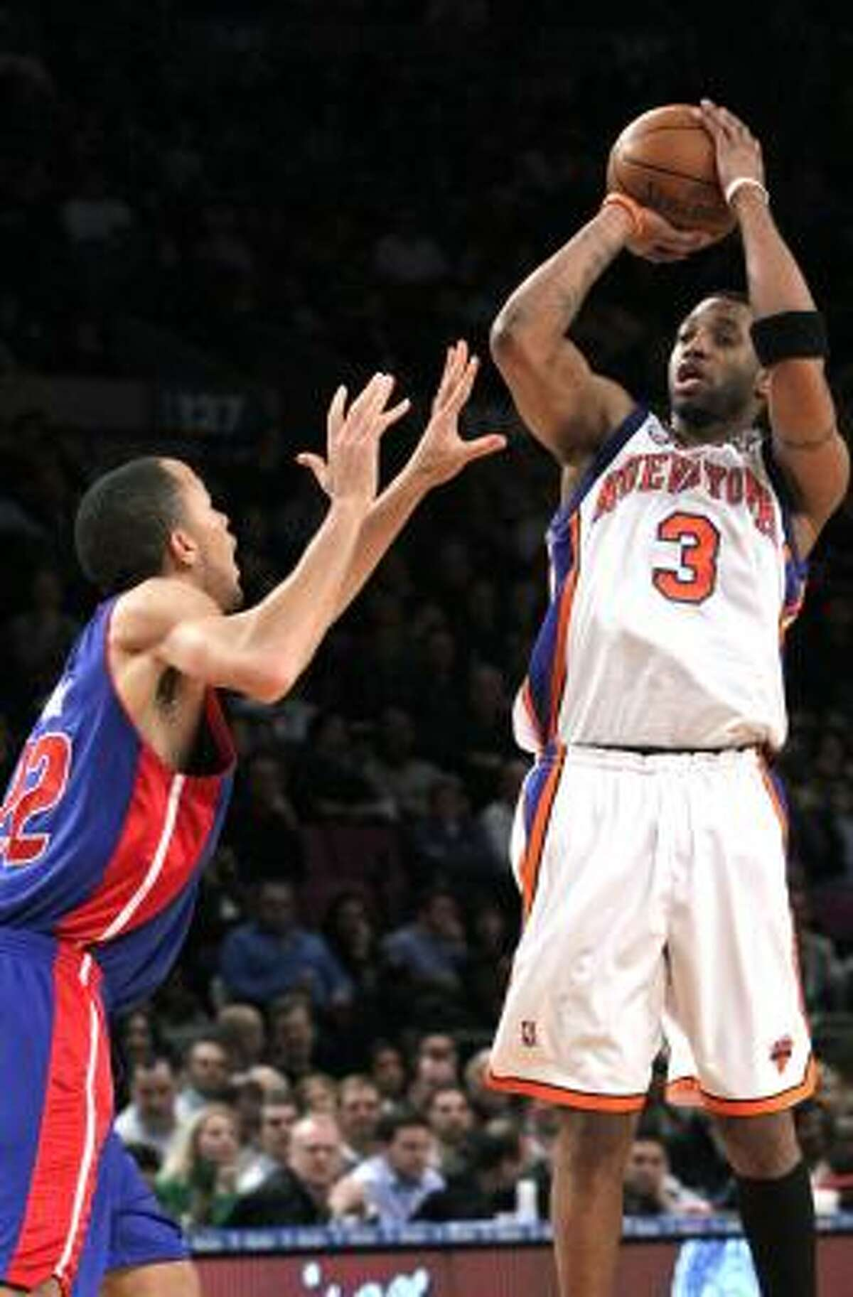 Tracy McGrady topped 20 points on three occasions since being traded to the Knicks.