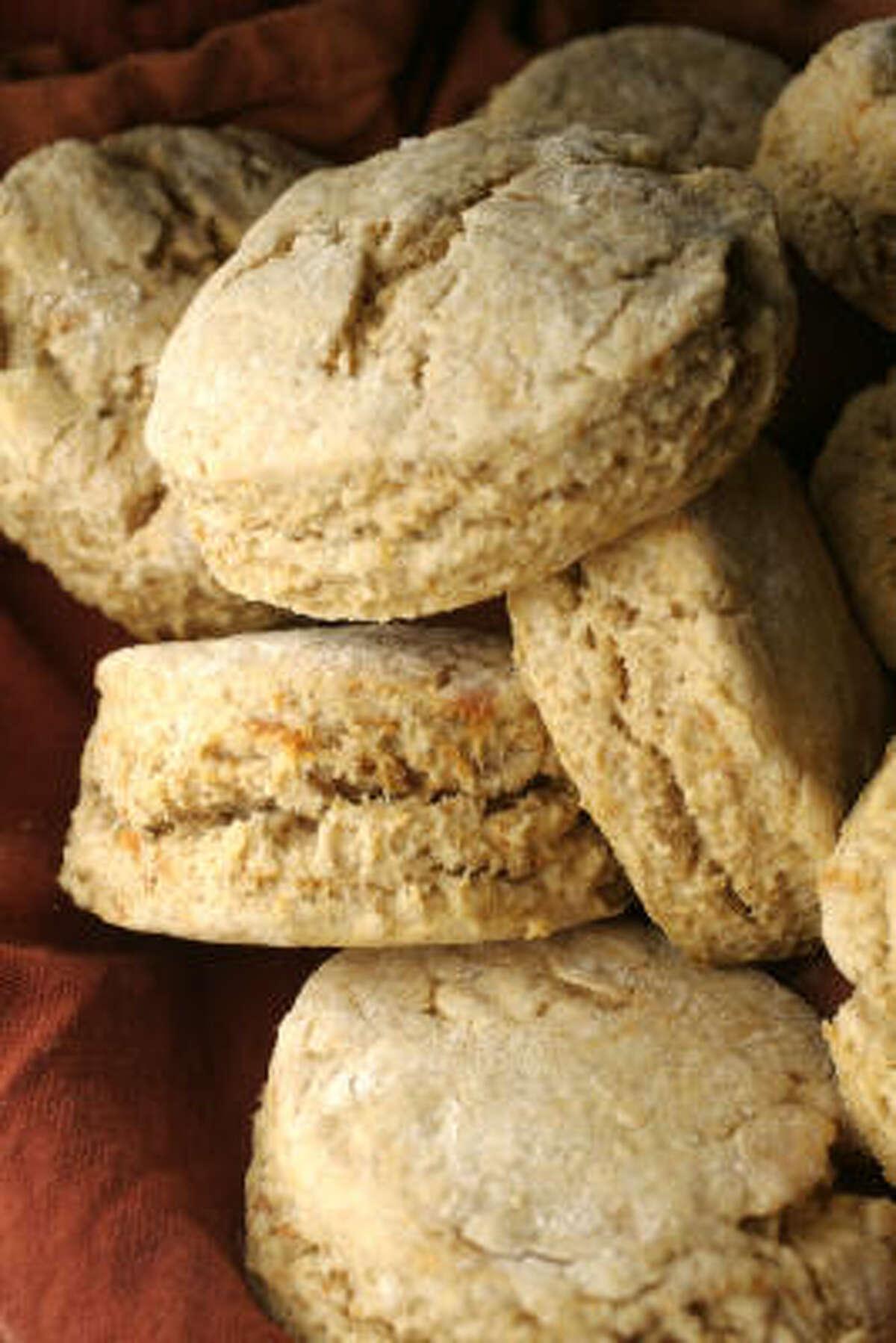 Serve Sweet Potato Biscuits with Orange Honey Spread.
