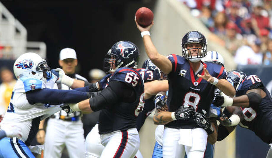 The Texans find themselves with a chance to make the playoffs after a win over the Titans. Photo: Brett Coomer, Chronicle