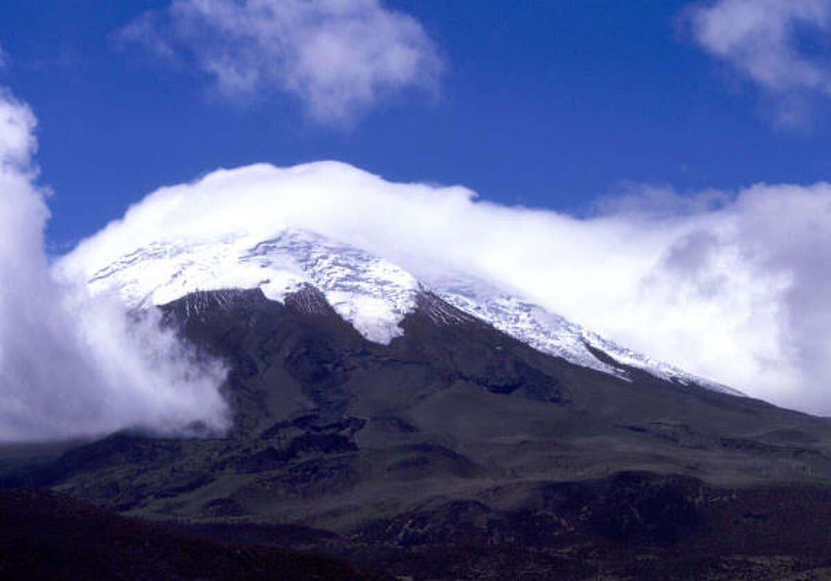 Ecuador's 19,347-foot Cotopaxi is the world's highest active volcano.