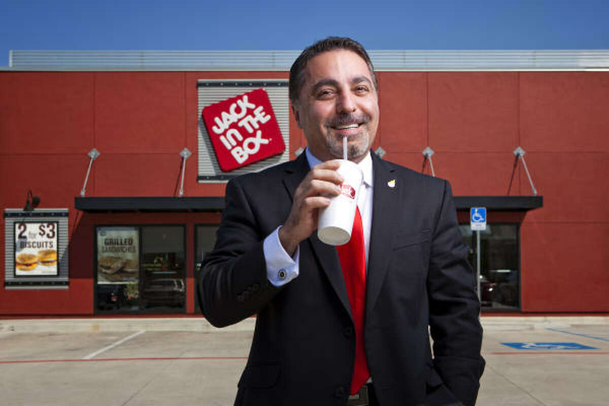 After fleeing Iran, Atour Eyvazian started at the bottom with Jack in the Box. He is now co-owner of 59 Jack in the Box franchises, most of them in Houston.