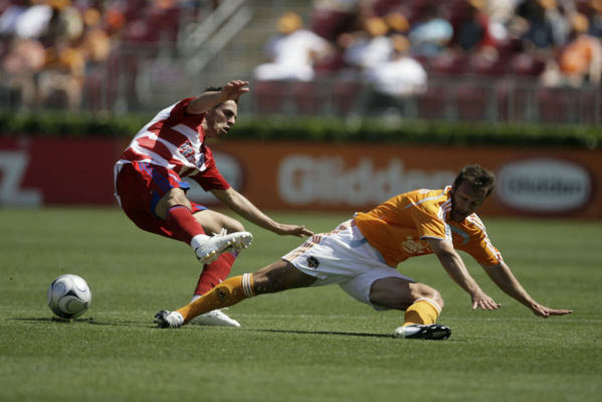 Eddie Robinson (right) has become an integral part of the Dynamo after losing of Stuart Holden and Ricardo Clark.