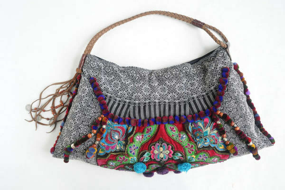 Goods from Jade Tribe, founded by Kimberly Hartman (a designer who grew up in Pasadena), include colorful bags made from repurposed materials by women in Laos and Thailand.