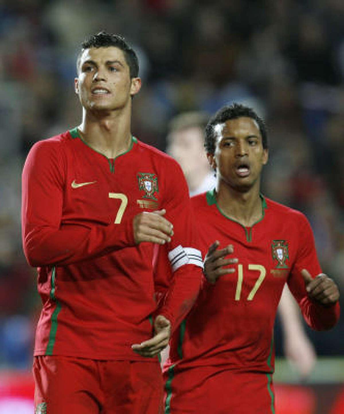 Cristiano Ronaldo y Luis 'Nani' Cunha.