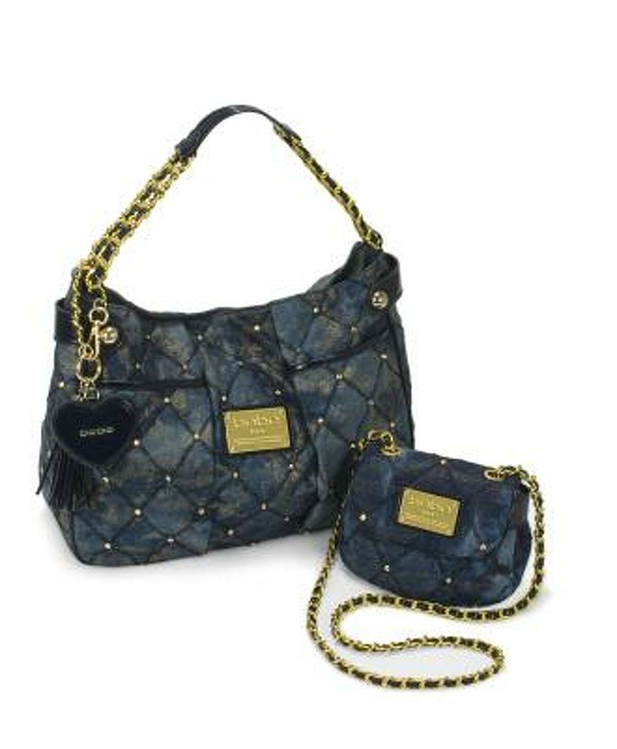 Bebe offers a collection of denim handbags for spring.