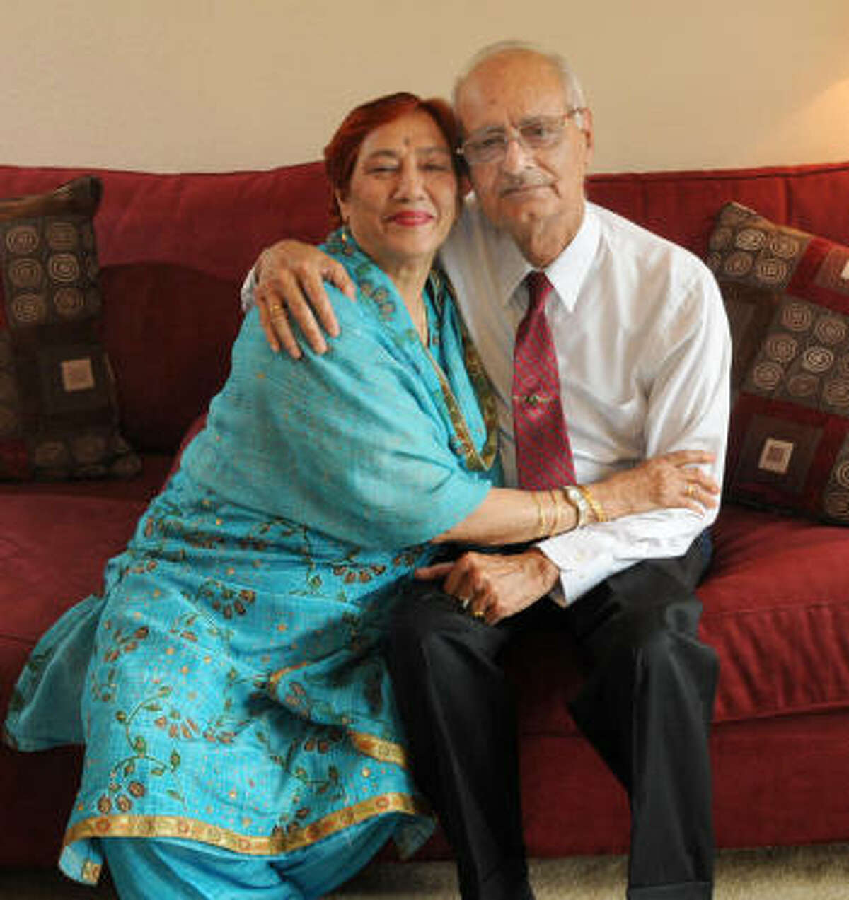 Prem and Mohan Marwaha were married in India 55 years ago.