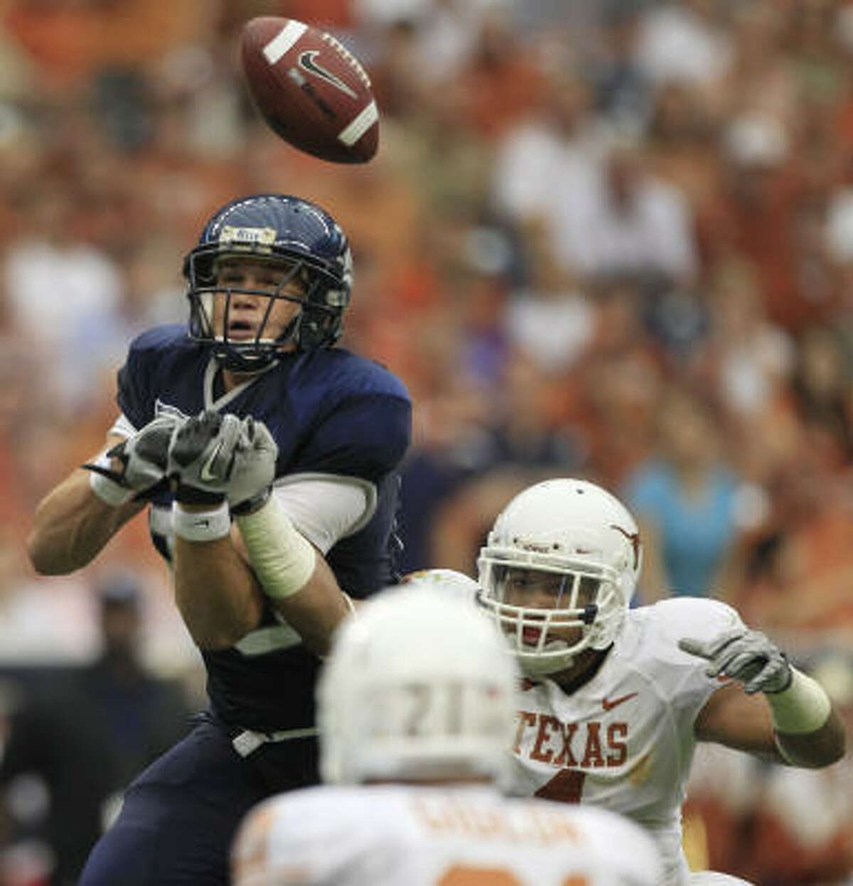 Rice tight end Vance McDonald, left, caught two touchdown passes in the Owls' loss to UTEP last weekend.