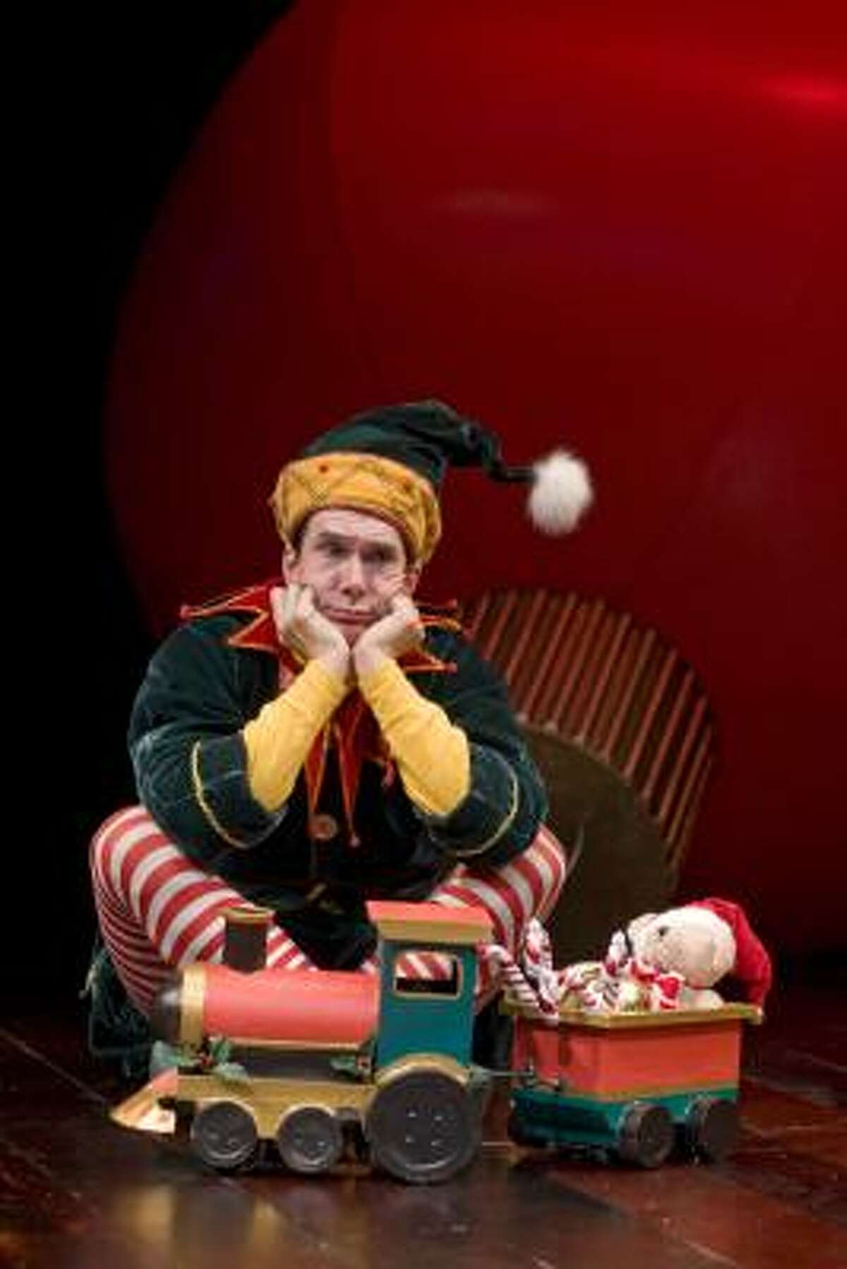 Todd Waite says playing Crumpet the disgruntled elf in The Santaland Diaries is always fun because the show provides a different view of the holiday experience to which the audience can relate.