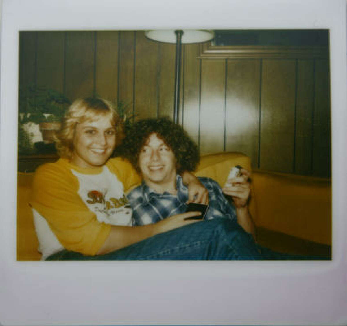 A photo of Nancy Wilemski and Steve Kearney in their younger years when they were dating.