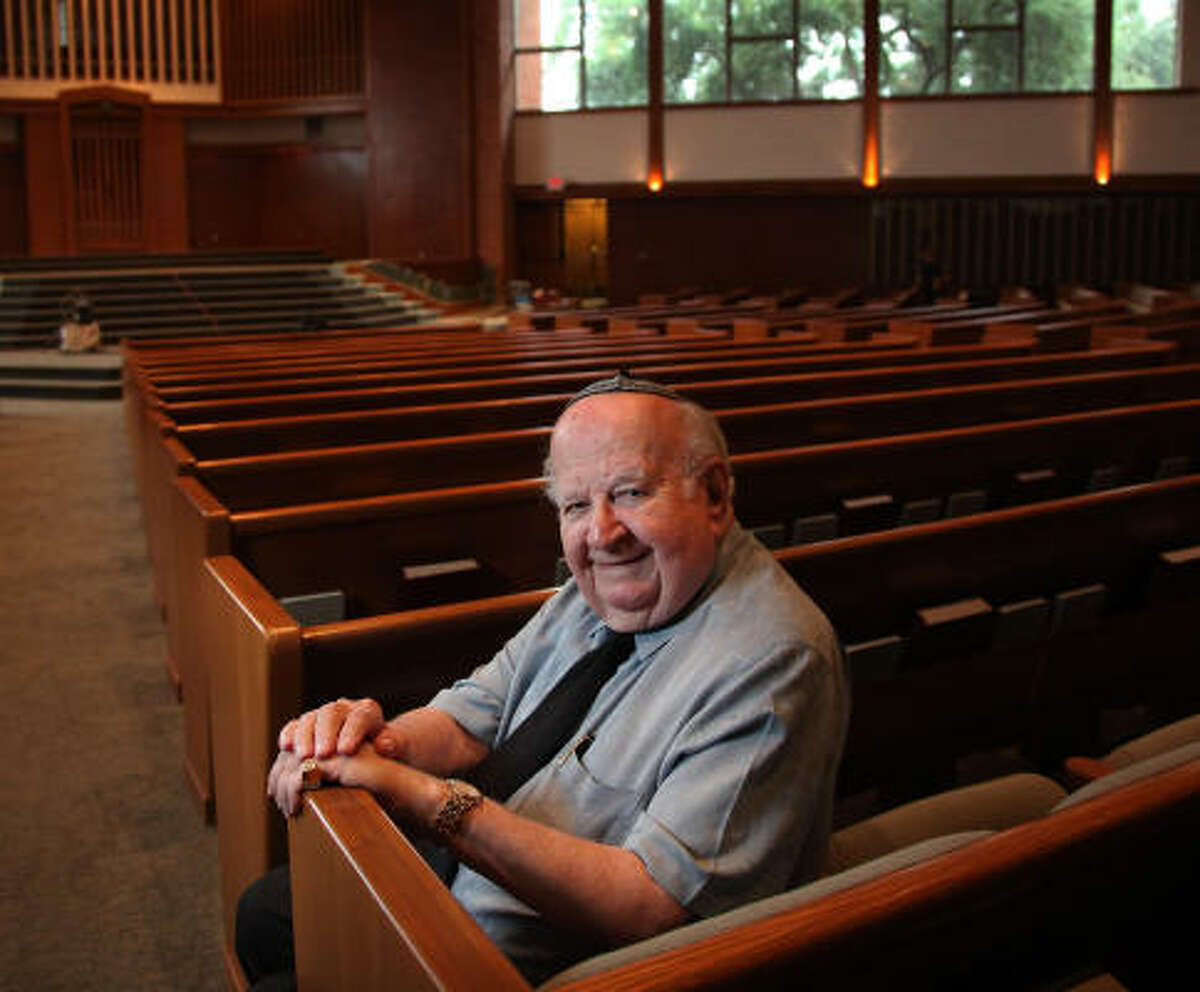 Marvin Barish, 83, donated $2 million toward expansion projects, including sanctuary remodeling, at Congregation Emanu El, a reform synagogue in the Rice University area. The new space will be dedicated Saturday, prior to Barish's second bar mitzvah.