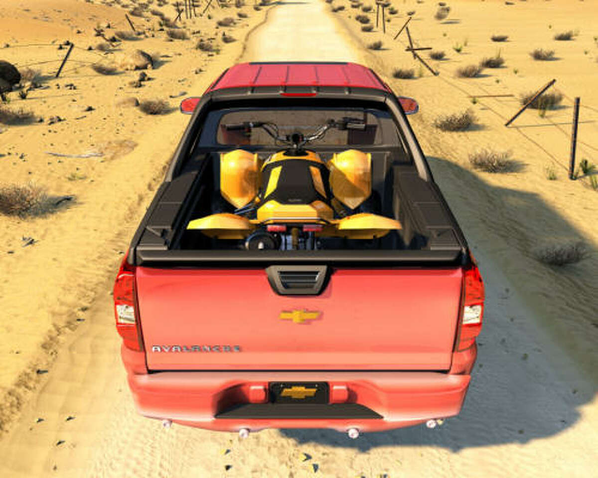 Folding down the Avalanche's Midgate, with the option of glass stored in it, expands the composite cargo floor to 8 feet 2 inches long. You can lock the tailgate to protect cargo from the elements, as well as from thieves. Removing the cargo cover allows hauling of taller items.