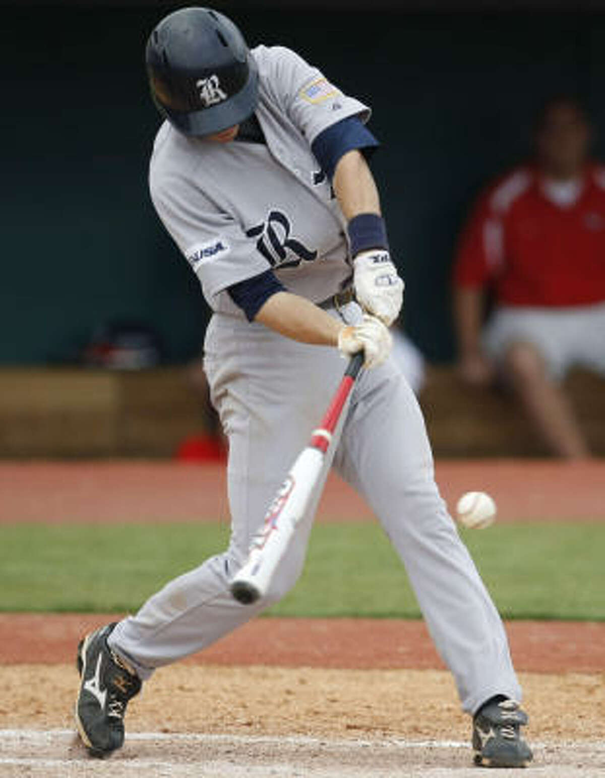 Rice shortstop Rick Hague hit .340 with 15 home runs and 55 RBIs for the Owls this season.
