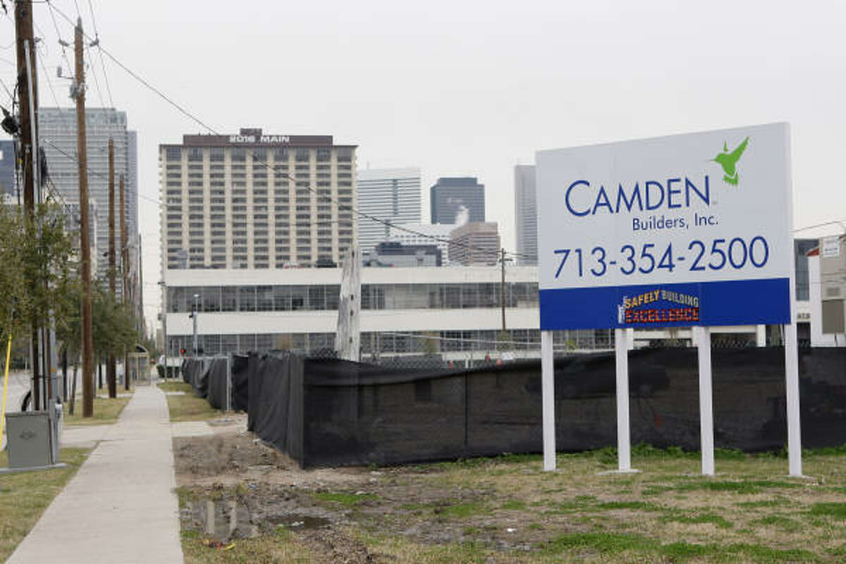 Camden has delayed development of an apartment complex slated for a site near McGowen and Travis in the Midtown area.