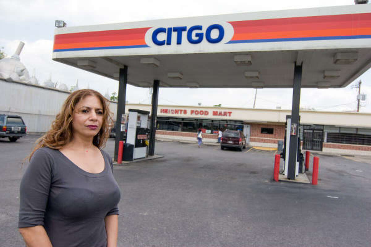 Smita Patel in front of her CITGO business.