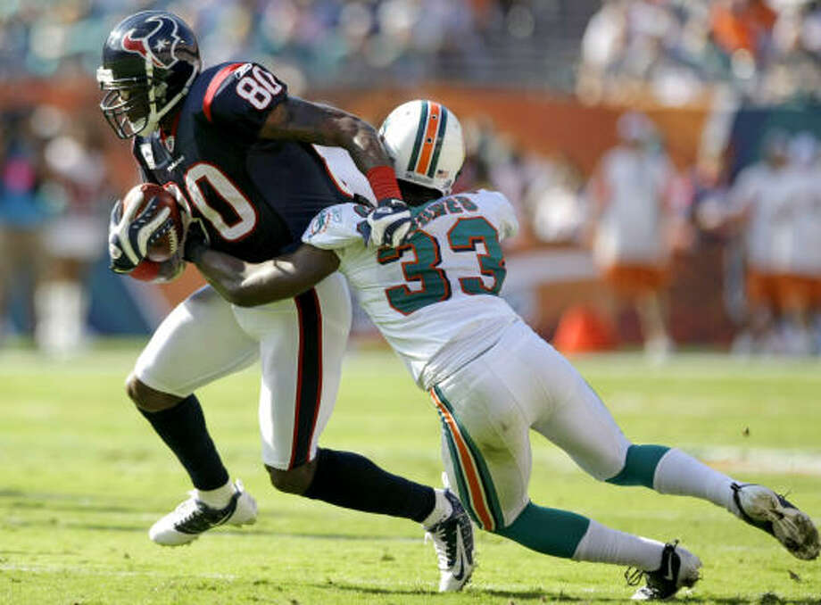 Andre Johnson's new agent negotiated Brandon Marshall's extension with the Dolphins. Photo: Brett Coomer, Chronicle