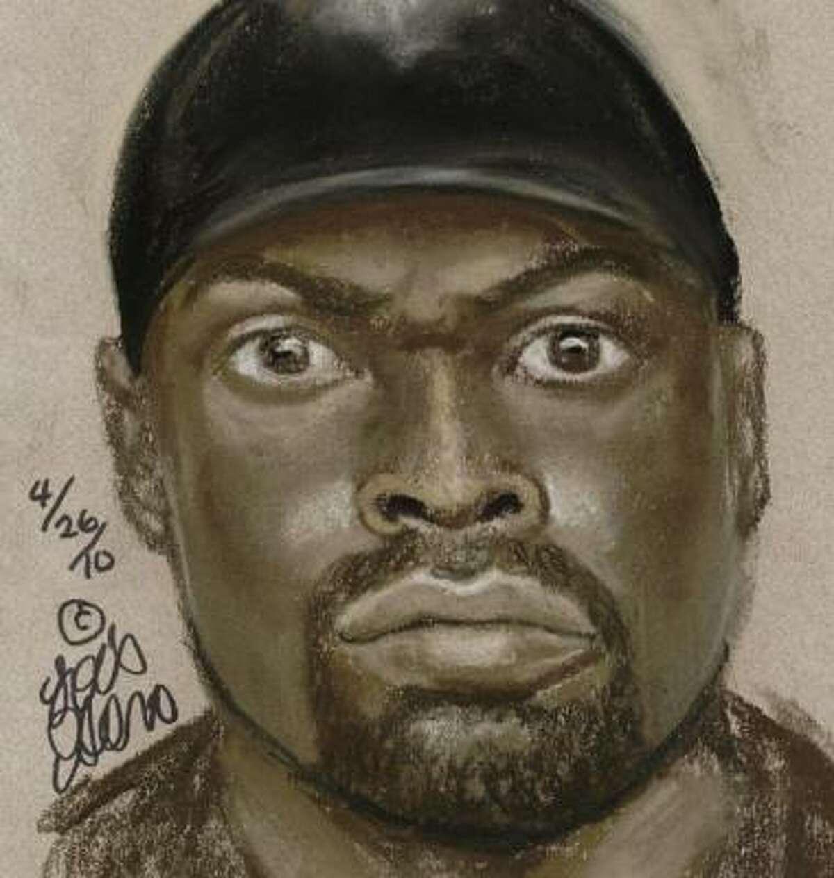 Police believe this man was wielding the gun.