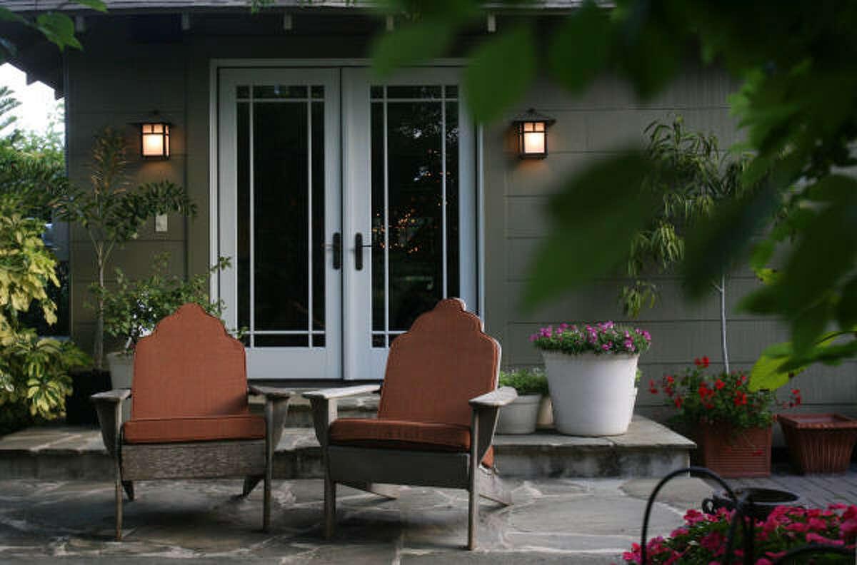 David Morello's Heights home lies between lush gardens.