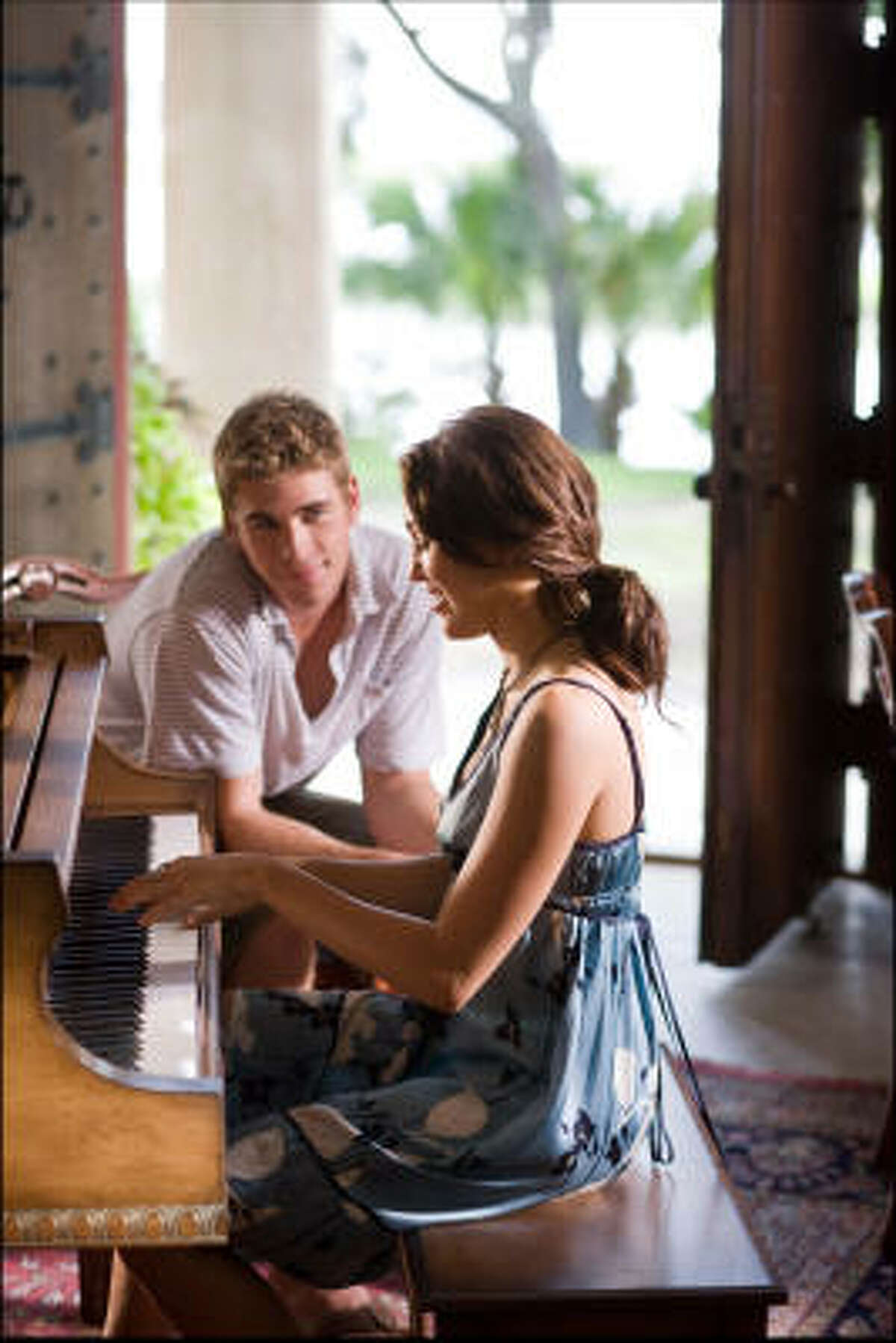 Liam Hemsworth and Miley Cyrus star in The Last Song.